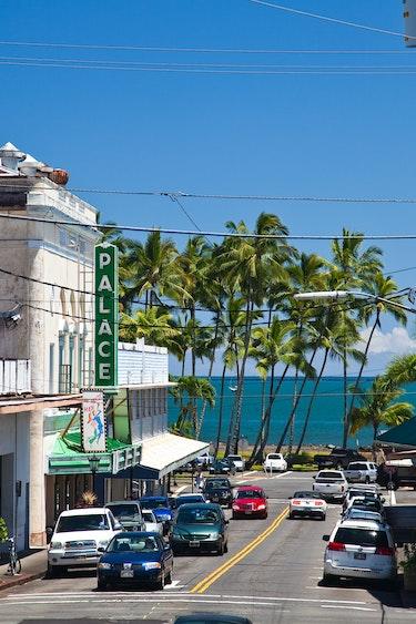 Usa hawaii hilo town street view