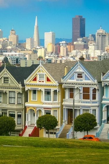 USA Kalifornien San Francisco Painted Ladies