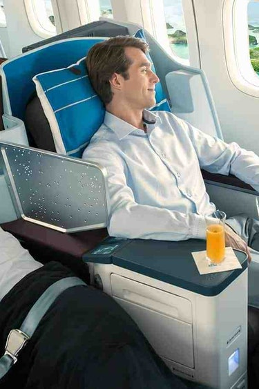 US VLIEGEN KLM 777 Business Class