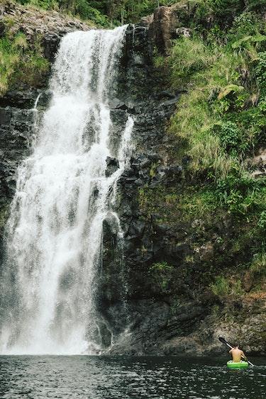 USA Volcanoes Nationalpark Hawaii Hilo waterfalls