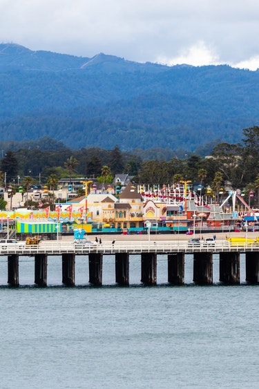 Usa santa cruz beach boardwalk