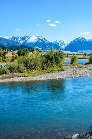 US Nationale Parken DSC5851 Driving Montana