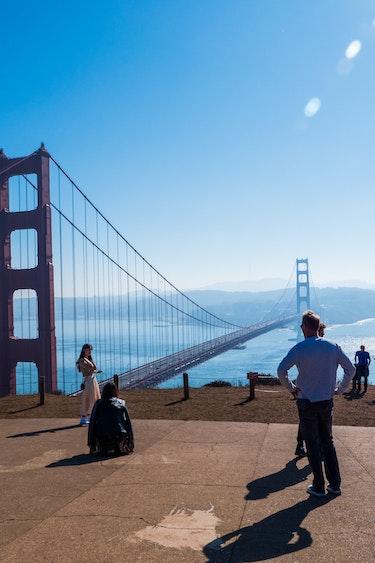 USA Kalifornien San Francisco Golden Gate Bridge Aussichtsplattform