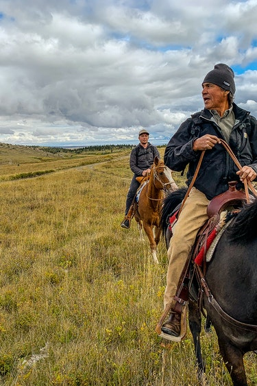 USA Montana Blackfeet Nation Reiten