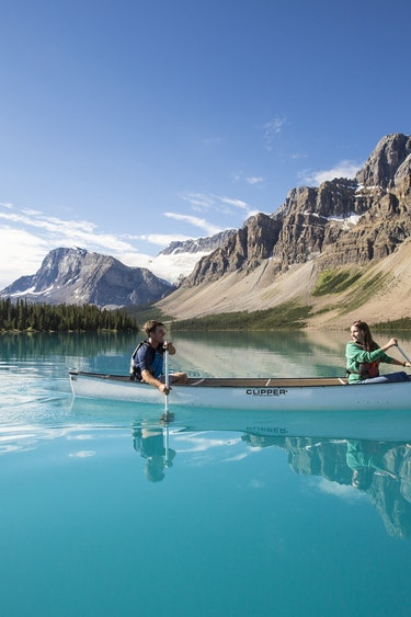 ca_couples_canoeing bow lake