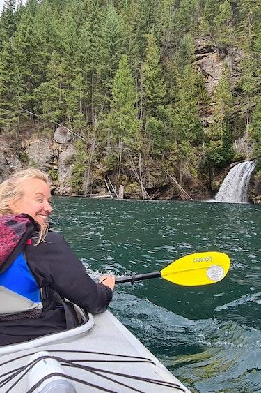 Ilona kayak revelstoke canada