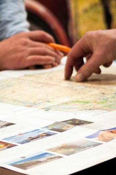 La presentatiedag header kaart route