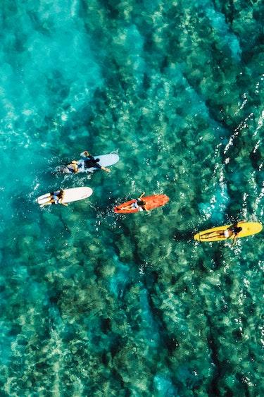 Usa hawaii waikiki beach family surfing credit hawaii tourism authority