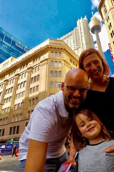 Aus familie van oord selfie
