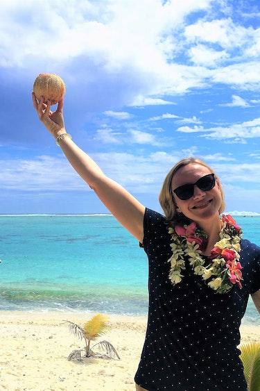 Claudia cook islands beach