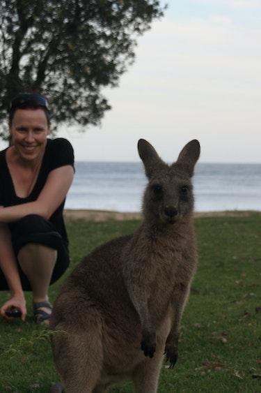 Nicole au kangaroo