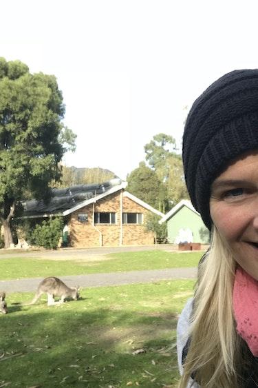 Veronika au kangaroo