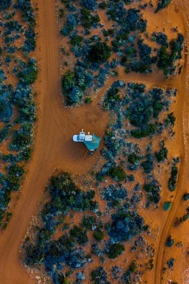 aus western australia camper beach outback