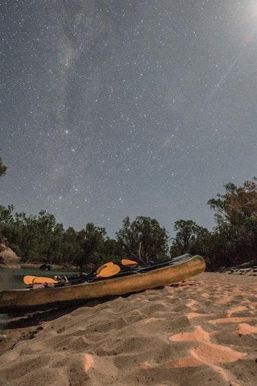 Abel in australia gecko camping canoe stars