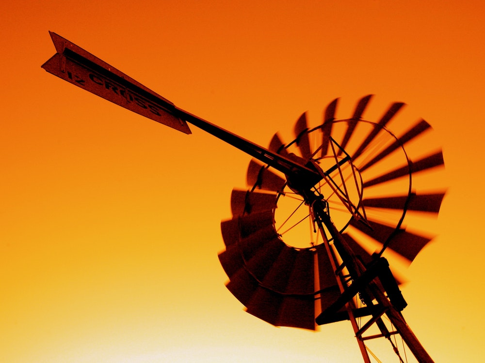 Sunset windmill outback | Australia holiday