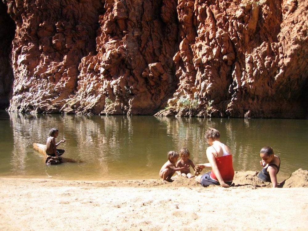 Aboriginal waterhole | Australia holiday
