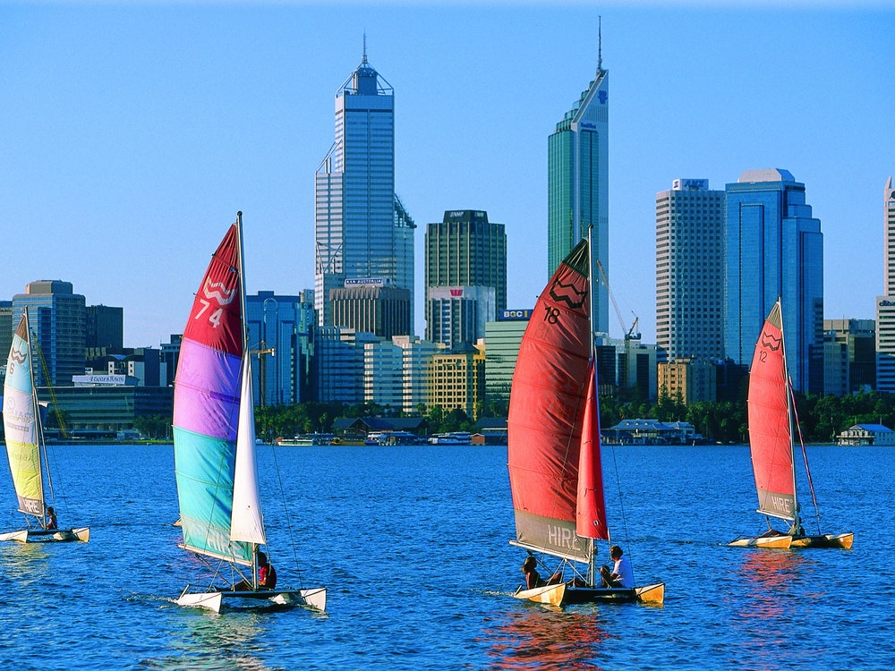 Sailing in Perth   Australia holiday