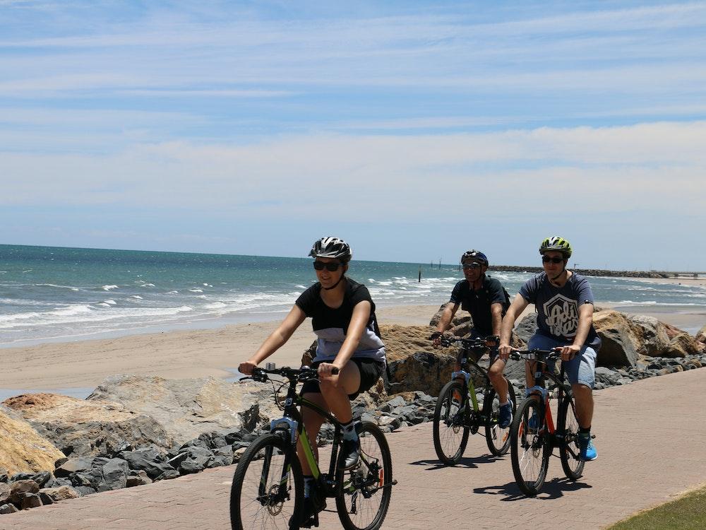 Bike along Adelaide's coast line   Australia adventure holiday