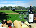 Lunch with helicopter background | Australia holiday