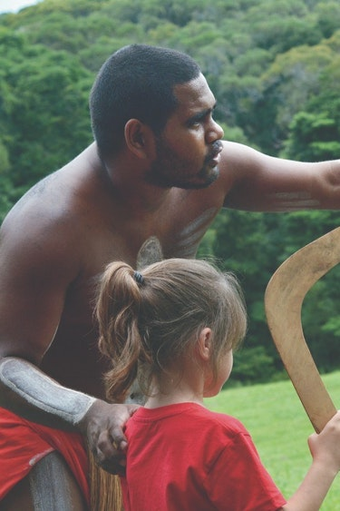 aus aboriginal child boomerang