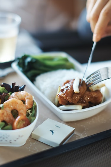 Au cathay pacific meal family adults flights premium ecomony