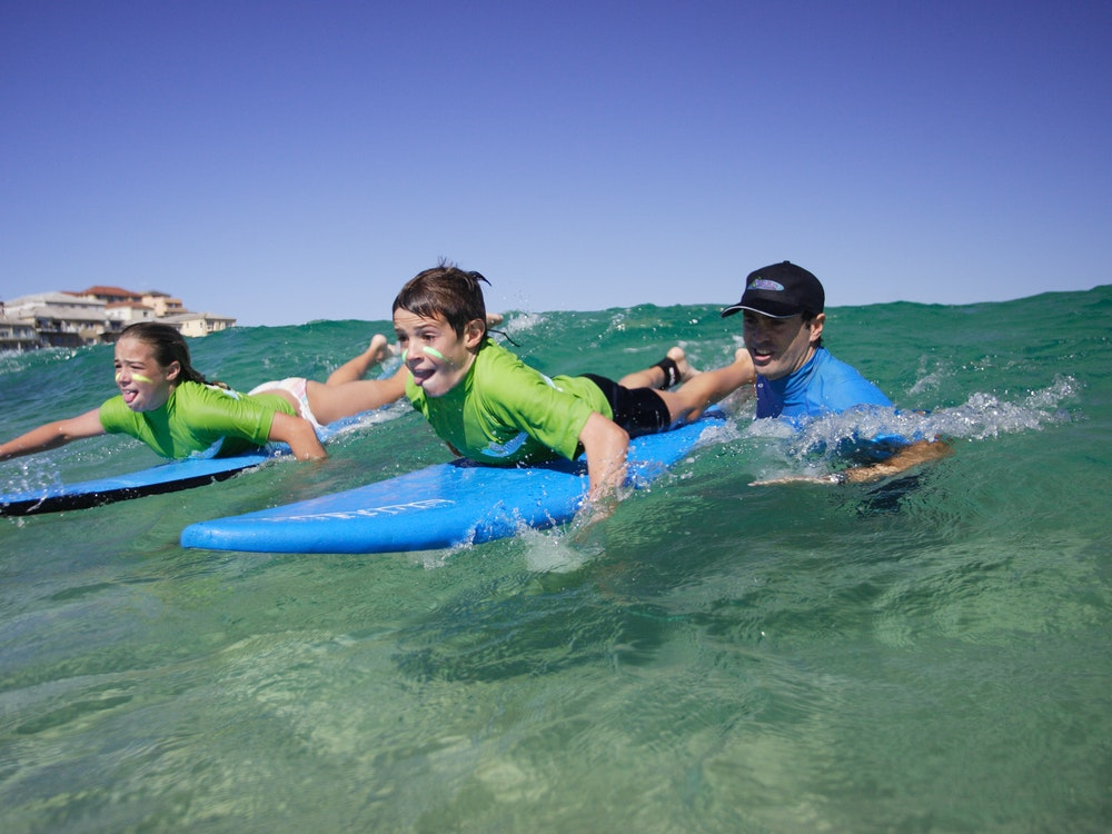 Kids learning surfing | Australia family holiday