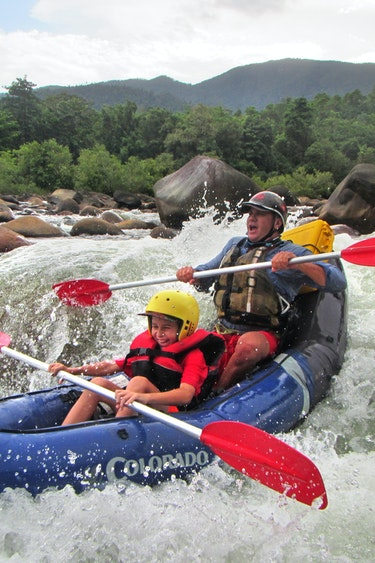 Aus mission beach water rafting kids family see and do adventurous