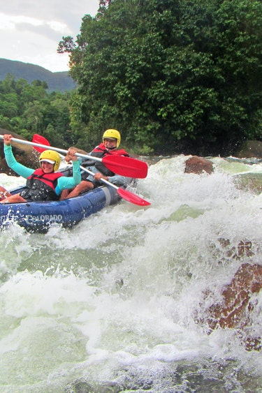 Aus mission beach water rafting people laughing family see and do adventurous