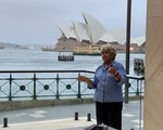 Aboriginal welcome in front of Sydney Opera House | Australia holiday