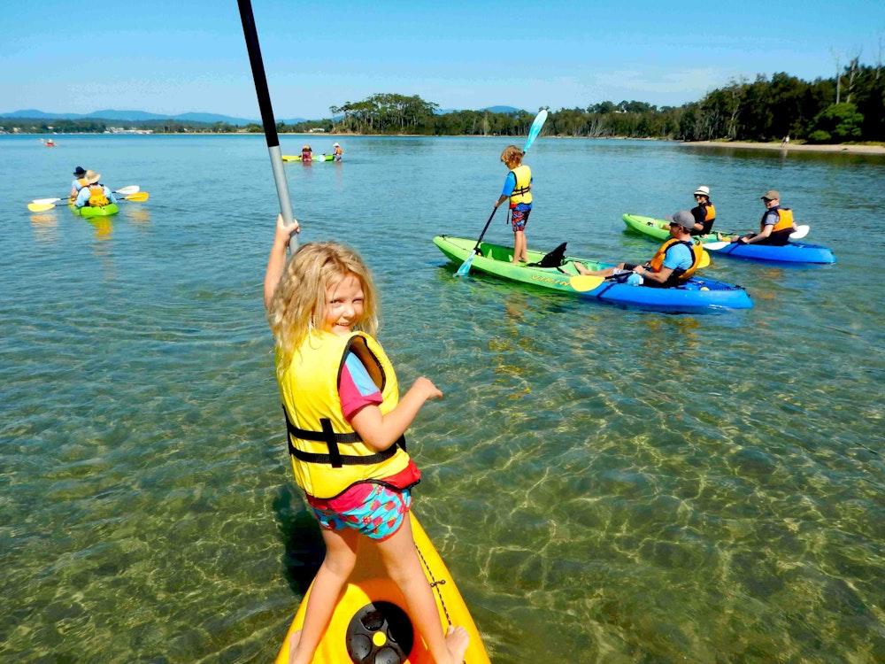 Fun kayak day | Australia family holiday