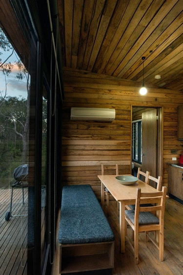 Aus victoria cabin nature kitchen view family stays very comfortable