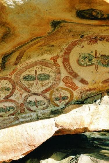 Aus wandjina rock art aboriginal indigenous