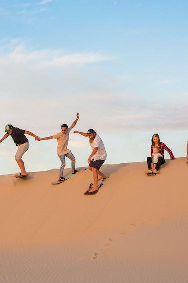 Aus port stephens sandboarding people partner see and do active