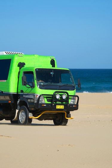 Aus port stephens sandboarding truck partner see and do active