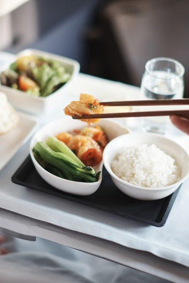 Au business class dining solo flights