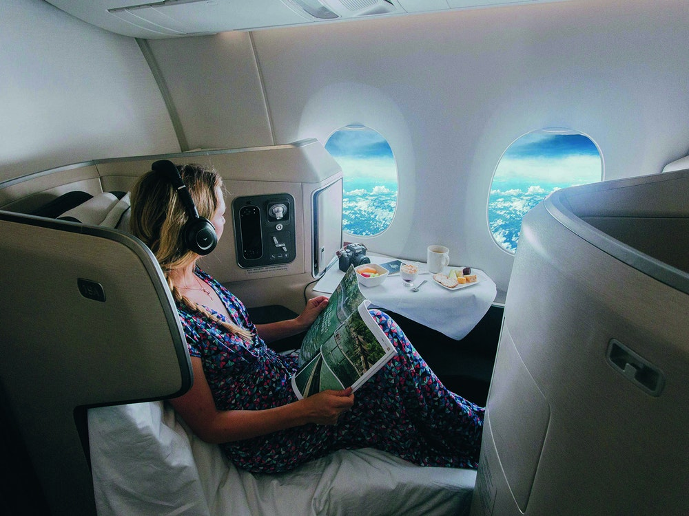 Fly to Australia in complete comfort - business class