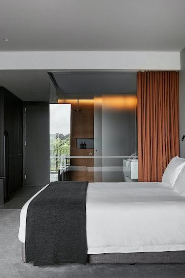 Au mornington peninsula vineyard hotel bedroom solo stays luxury