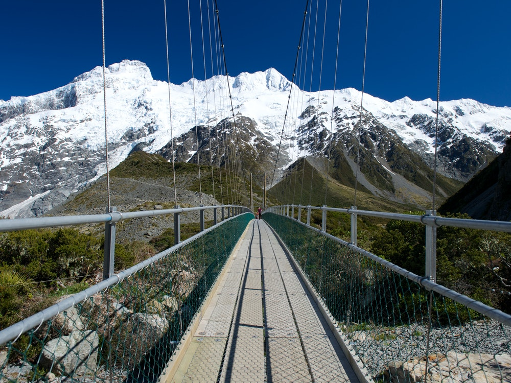 Swing bridge with a view | New Zealand holiday
