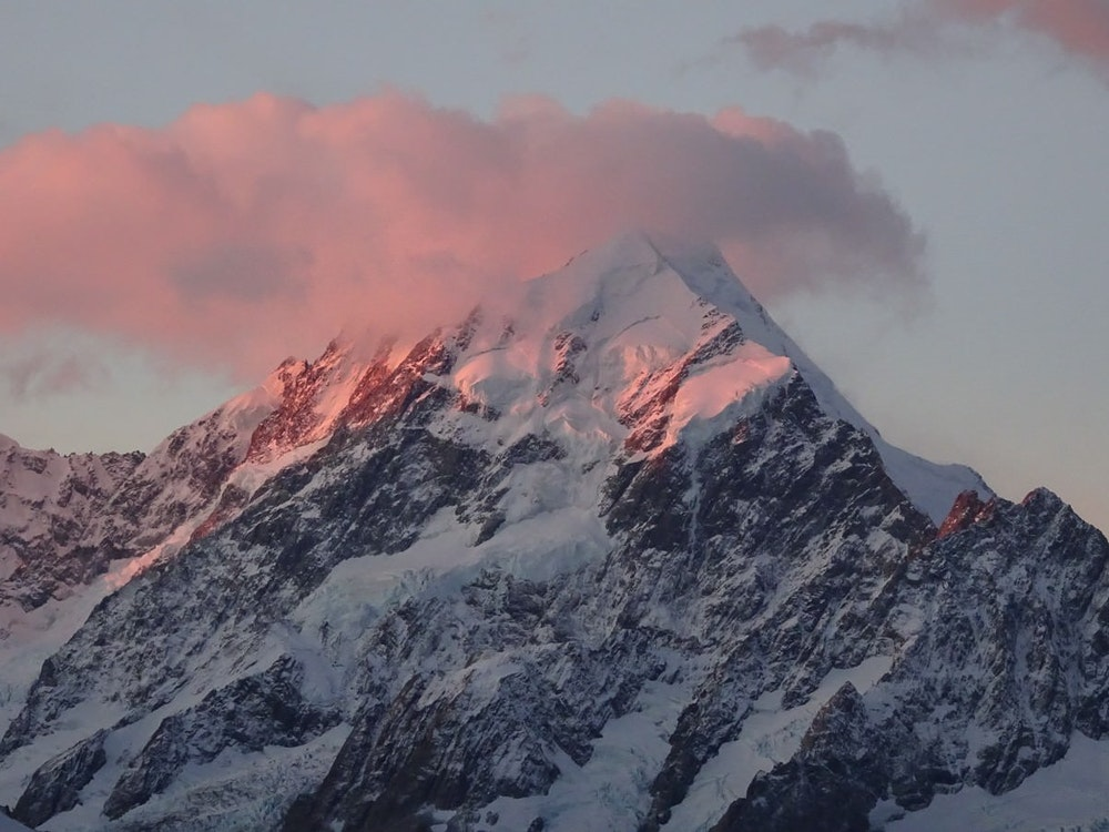 At 3724 metres, Mount Cook is New Zealand's highest mountain