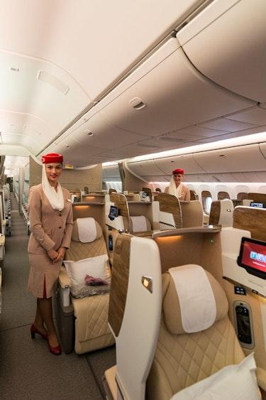 Emirates business class service