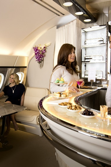 Emirates business lounge onboard