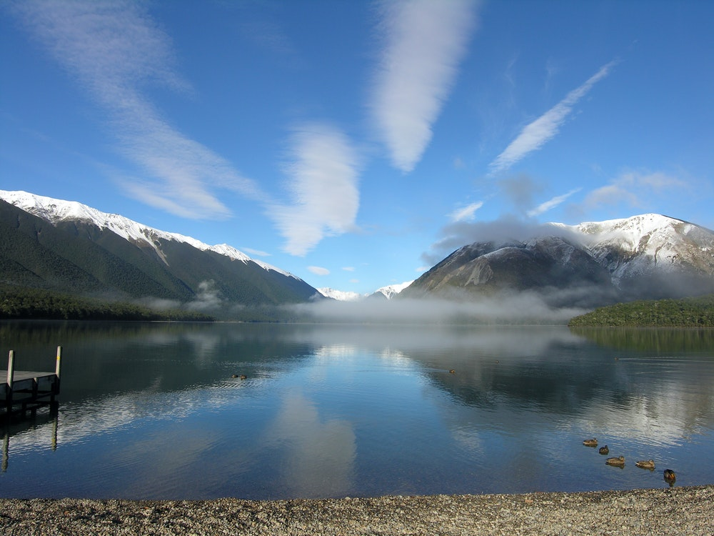 Beautiful landscapes in Nelson Lakes National Park   New Zealand nature