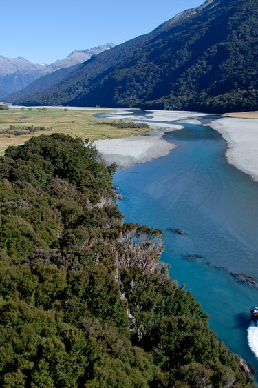 Nz mount aspiring national park jetboat 1