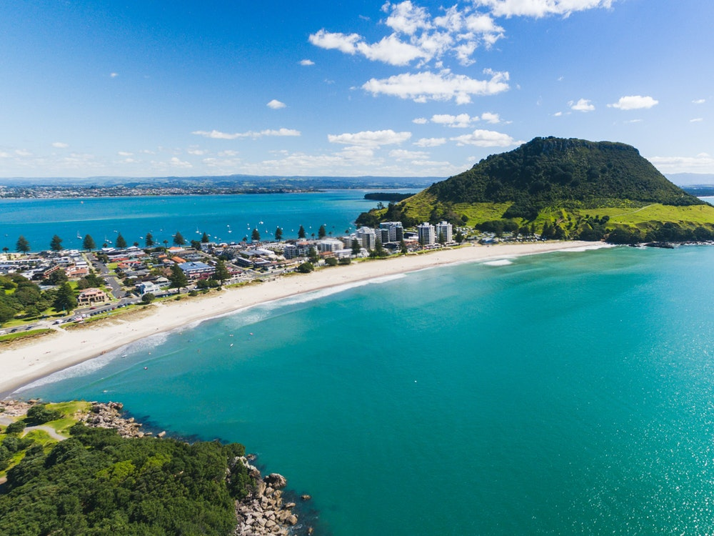 Great sea views at Mount Maunganui Beach | New Zealand nature