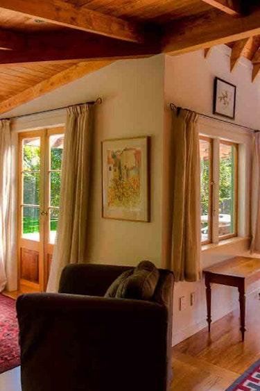 Nz coromandel villa living area family stays comfortable