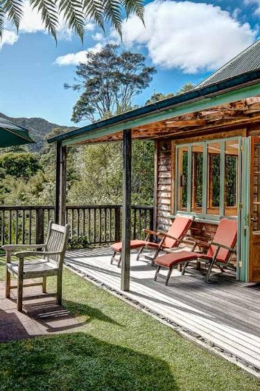Nz coromandel villa nature terrace view family stays comfortable