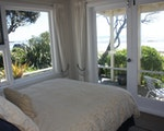 Bedroom with seaview | New Zealand holiday