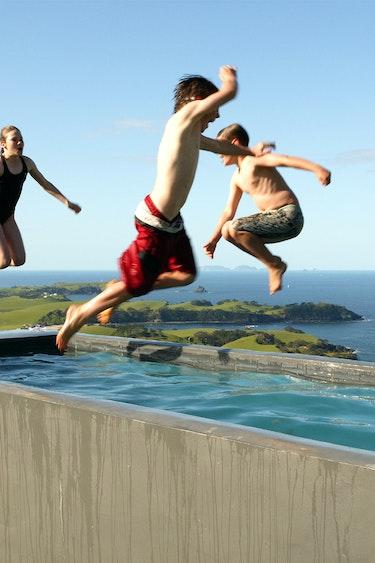 Nz whangarei villa pool kids family stays luxury