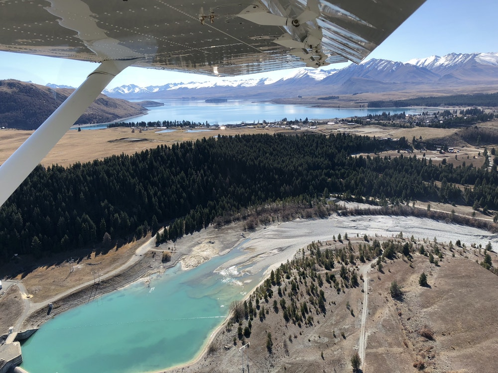 Enjoy the views on a scenic flight over Lake Tekapo