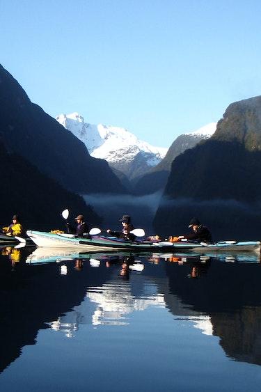 Nz doubtful sound sea kayaking family length header